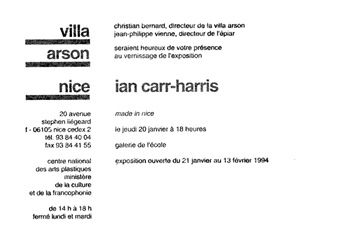Carton d'invitation de l'exposition <em>Made in Nice</em>