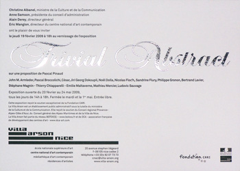 Verso du carton d'invitation de l'exposition <em>Trivial Abstract</em>