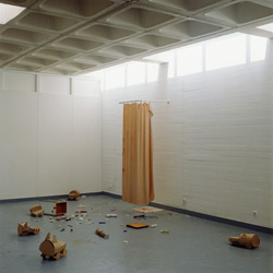 Béatrice Cussol, <em>Mousseline</em>, 1993<br />technique mixte, installation, dimensions variable